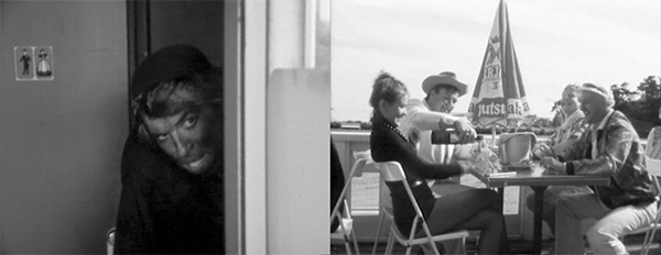 92-oktaanirakkautta (1984). Ohjaus: Janne Kuusi. Kuvissa: Vasemmalla: Martti Suosalo. Oikealla: Riitta Havukainen, Mikko Kivinen, Timo Eränkö ja Jukka Juolahti. Kuvat: Janne Kuusi. © YLE